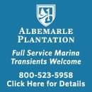 Our marina  is your boating access to Albemarle Sound, the largest freshwater sound in the country—55 miles long and 15 miles at its widest point. Placed strategically at the mouth of Yeopim Creek, the marina is just beyond the high insurance line saving boaters significantly on their insurance rates.