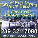 Located at Mile Marker 135 on the Okeechobee Waterway, 15 miles inland from the Gulf of Mexico, Fort Myers Yacht Basin is a well designed and protected marina. It is owned and operated by the City of