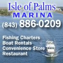 Isle of Palms Marina is located on the east side of the Intracoastal Waterway, northeast of Charleston at Mile 456.5 and south of ICW Marker 116.  50 41st Avenue