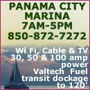 The Panama City Marina is located on the intercoastal Waterway one block from Downtown Panama City. The Panama City Marina is a newly renovated 240-slip marina facility designed for all classes of ves