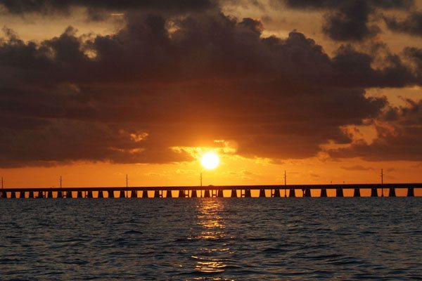 Sunset at Marathon Florida Bridge