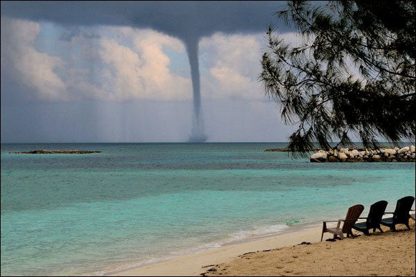 Waterspout at Highborne Cay