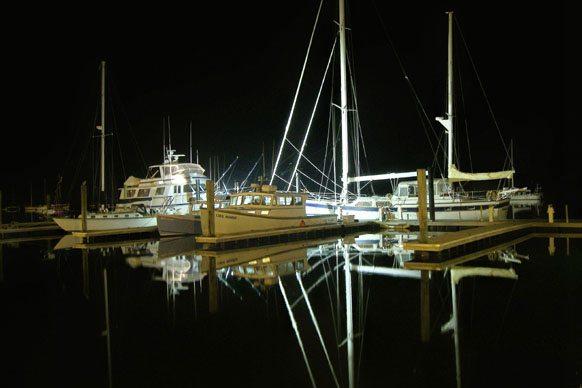 Calm night on the Beaufort NC waterfront