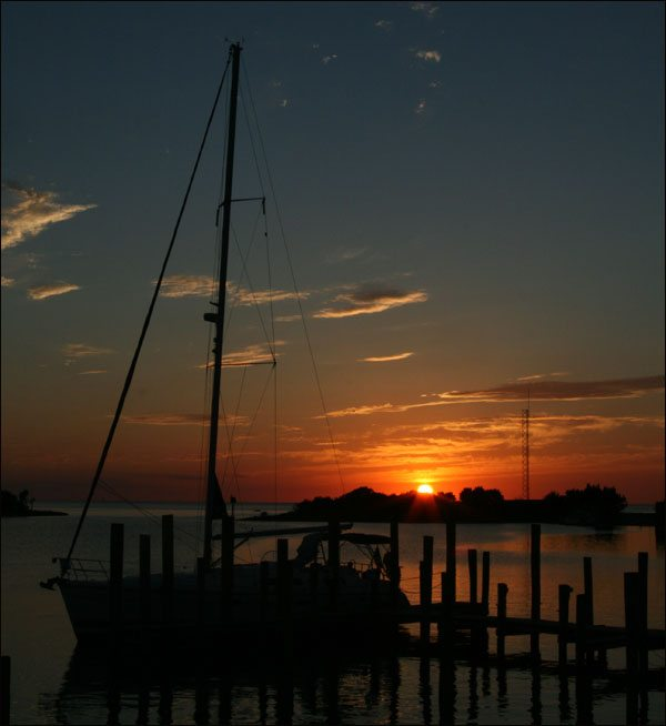 Silver Lake Harbor, Ocracoke, at Sunset