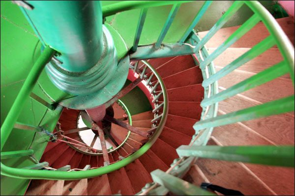 Spiral Staircase in the Hopetown Lighthouse