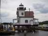 Old Ronaoke River Lighthouse - On Its New Home at Edenton Town Docks, May, 2012