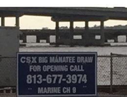 Confusing RR Bridge Sign on Manatee River