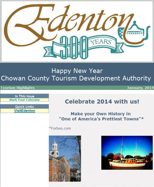 News from Chowan County Tourism Development Authority