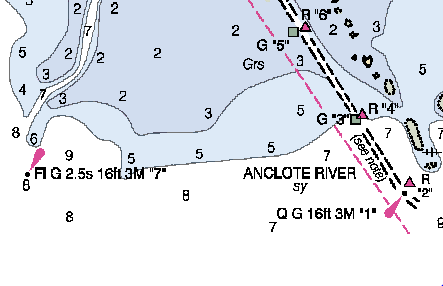Anclote River Entrance Channel - Click for Chartview