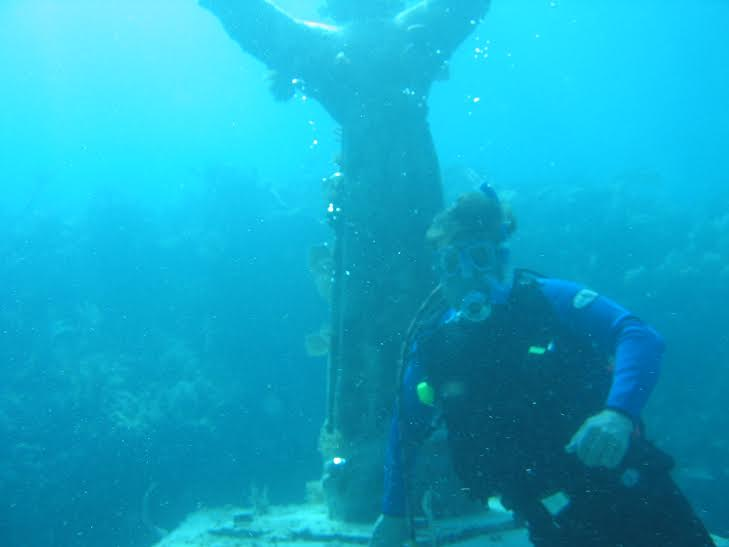 Christ of the Abyss , N  Grecian Rocks Key Largo by Tony Pozun
